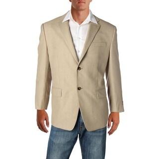 Izod Mens Two-Button Blazer Knit Pattern - 42s