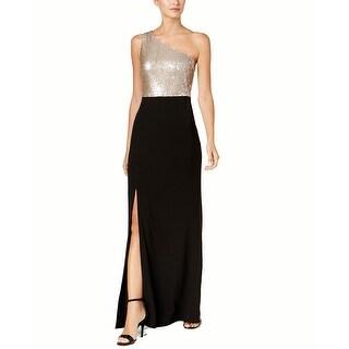 Calvin Klein One-Shoulder Column Gown, Size 2