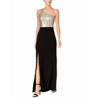 Calvin Klein One-Shoulder Column Gown 602dd46a7