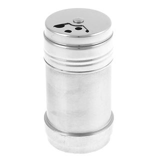 "Unique Bargains 3.1"" Height SS Rotate Salt Seasoning Container Jar Salt Pepper Shaker"