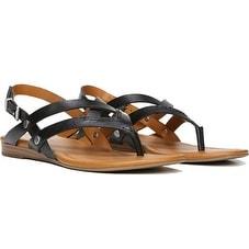 Franco Sarto Womens A-Gretchen Sandal, Black