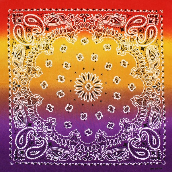 Paisley Bandana Cotton Multicolor Head Face Mask Wrap Scarf 6-12 Pack. Opens flyout.