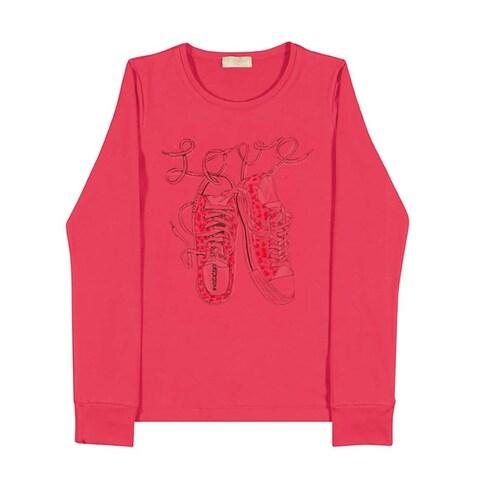 Tween Girls Long Sleeve T-Shirt Teen Graphic Tee Pulla Bulla Sizes 10-16 Years