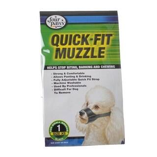 """Four Paws Quick Fit Muzzle Siize 1 - Fits 5"""" Snout"""