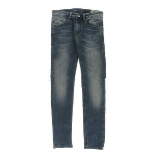 Diesel Industry Boys Belther J Tapered Leg Jeans Whisker Wash - 10