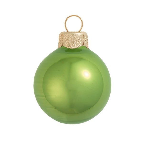 "4ct Pearl Lime Green Glass Ball Christmas Ornaments 4.75"" (120mm)"