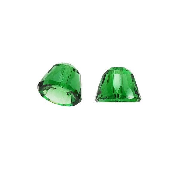Swarovski Elements Crystal, 5542 Dome Beads 8mm, 2 Pieces, Dark Moss Green