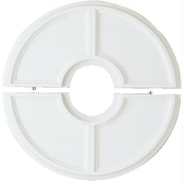 """Westinghouse 77034 Split Design White Ceiling Medallion, 16"""""""