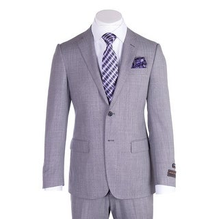 Tiglio Novello Light Gray Birdseye Modern Fit, Pure Wool Suit TIG1018