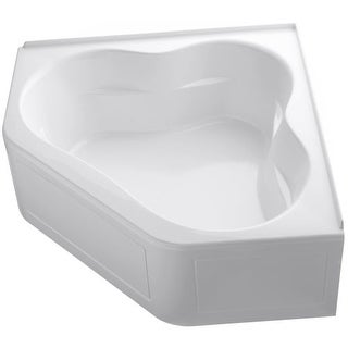 "Kohler K-1160-GLA Tercet 60"" Corner BubbleMassage Bath Tub with Integral Apron