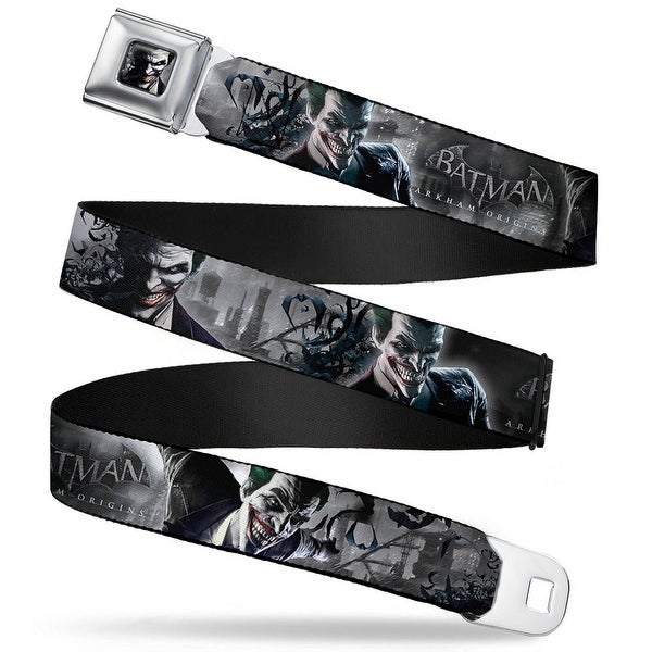Joker Face Bats Close Up Full Color Grays Batman Arkham Origins Joker Seatbelt Belt