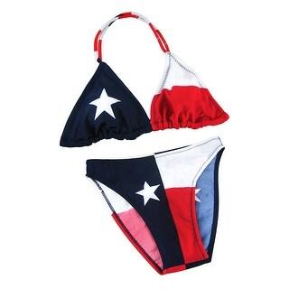 Texas Flag Lycra Bikini Lone Star U.S. Junior`s Sizes