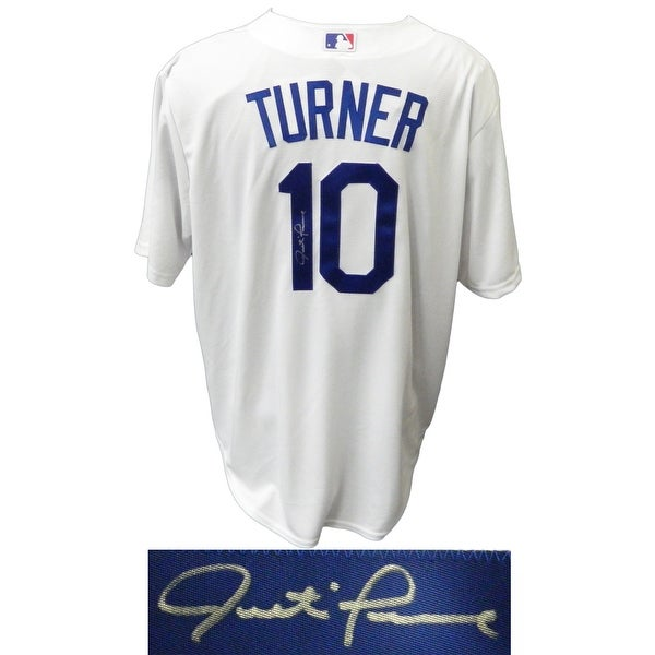 best website 51544 e9ba6 Justin Turner Los Angeles Dodgers White Majestic Replica Jersey