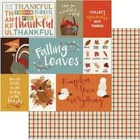 "Fall Breeze Double-Sided Cardstock 12""X12""-Thankful"