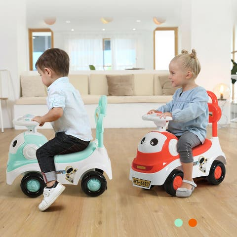 Gymax 3-in-1 Baby Walker Sliding Car Pushing Cart Toddler Ride On Toy