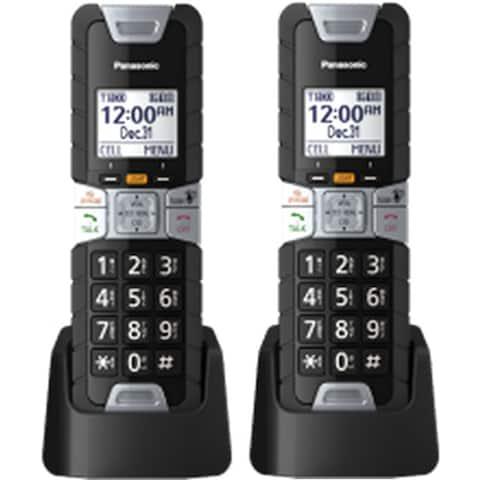 Panasonic KXTGTA61B (2-Pack) Additional Rugged Cordless Handset