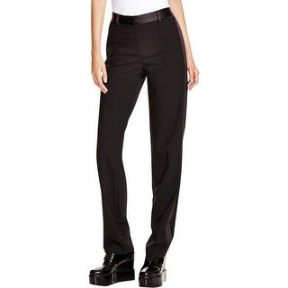 DKNY Womens Dress Pants Wool Tuxedo Stripe