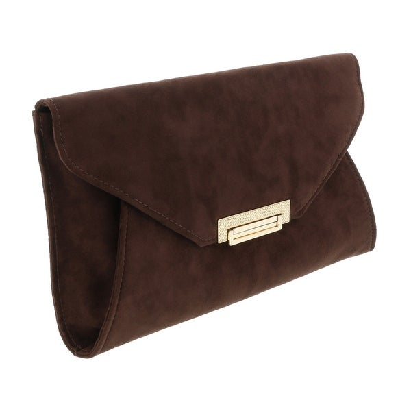 Scheilan Brown Suede Tassle Clutch - 11-7-1