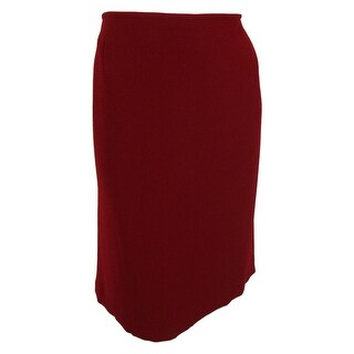 Tahari Women's Pencil Skirt - Red