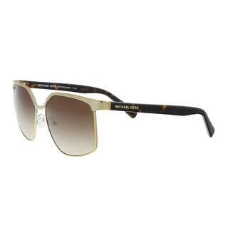 7fb60940e0 Michael Kors MK1018 114513 August Gold Aviator Sunglasses - 56-16-140