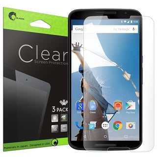 i-Blason Google Nexus 6 Screen Protectors - Premium HD Screen Protectors 3 Pack - Clear
