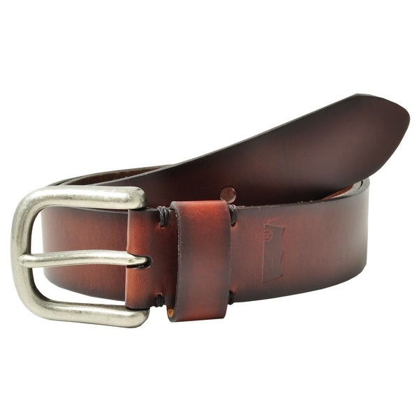 Levis Men's Leather Burnished Edges Bridle Belt