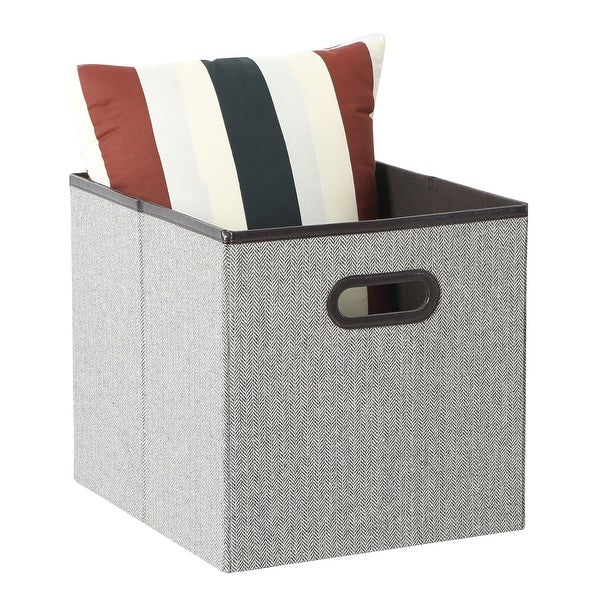 Tidy Living   Faux Leather Storage Bin   Large