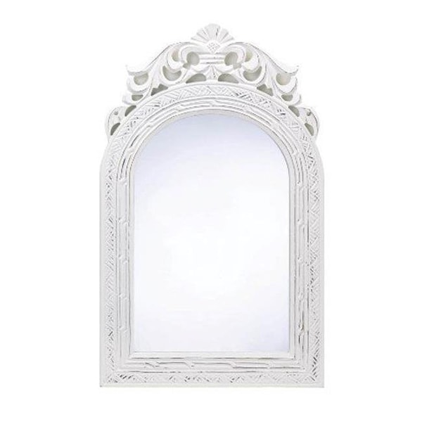 Distressed White Framed Wall Mirror - Free Shipping On Orders Over ...