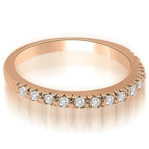 0.28 cttw. 14K Rose Gold Classic Round Cut Diamond Wedding Band