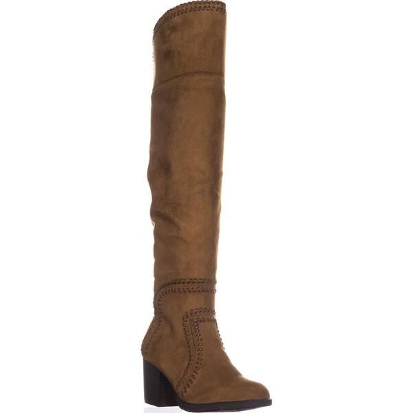 AR35 Lauraine Over-The-Knee Boots, Cognac