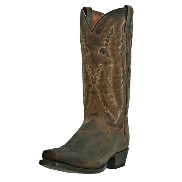 Dan Post Western Boots Mens Earp Cowboy Sq Toe Bay Apache