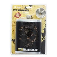 The Walking Dead 8oz Zombie Skull Flask - Multi