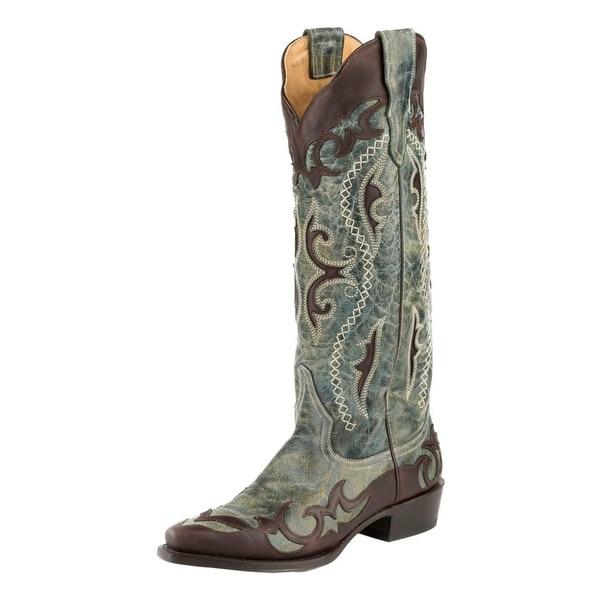Stetson Western Boots Womens Vivi Wingtip Snip