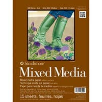 """Strathmore Mixed Media Paper Pad 9""""X12""""-15 Sheets"""