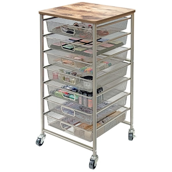 "Tim Holtz Signature Design Industrial 7-Drawer Storage Cart-33.5""X15.75""X15.75"""