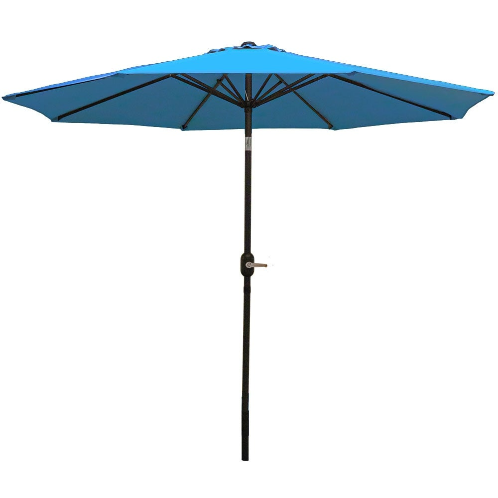 Sunnydaze Aluminum 9 Foot Patio Umbrella with Tilt & Crank - Thumbnail 0
