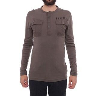 G-Star Raw Long Sleeve Henley Men Regular Henley Shirt