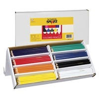 School Smart Colored Pencil, 7 in, Assorted Colors, Pack of 144
