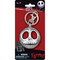 The Nightmare Before Christmas Jack Pewter Key Ring - Multi