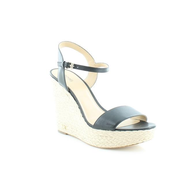 Michael Kors Jill Wedge Sandals Women's Sandals & Flip Flops Black