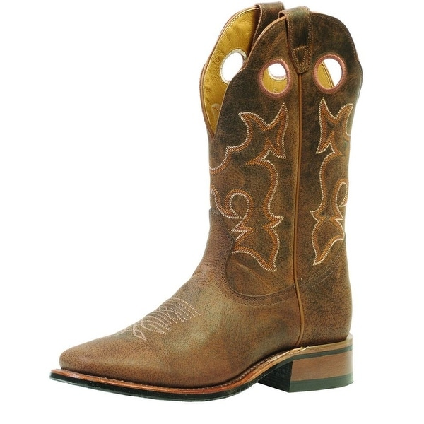 Boulet Western Boots Mens Cowboy Leather Stockman Selvaggio Wood