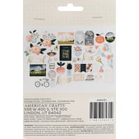 One Canoe Two Twilight Ephemera Cardstock Die-Cuts 40/Pkg-W/Champagne Foil Accents