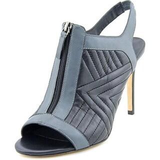 Charles David Inverse Women Peep-Toe Leather Black Slingback Heel