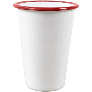 Crow Canyon V93RED Tumbler, 3 Oz, White With Red Rim
