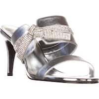Caparros I-Love Knot Mule Evening Sandals, Silver Metallic - 7 us