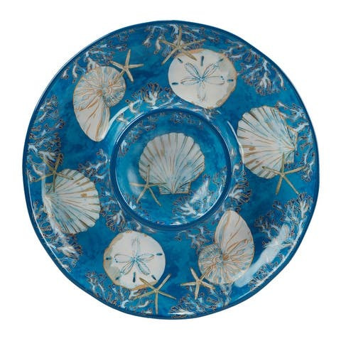 Certified International Playa Shells Chip and Dip