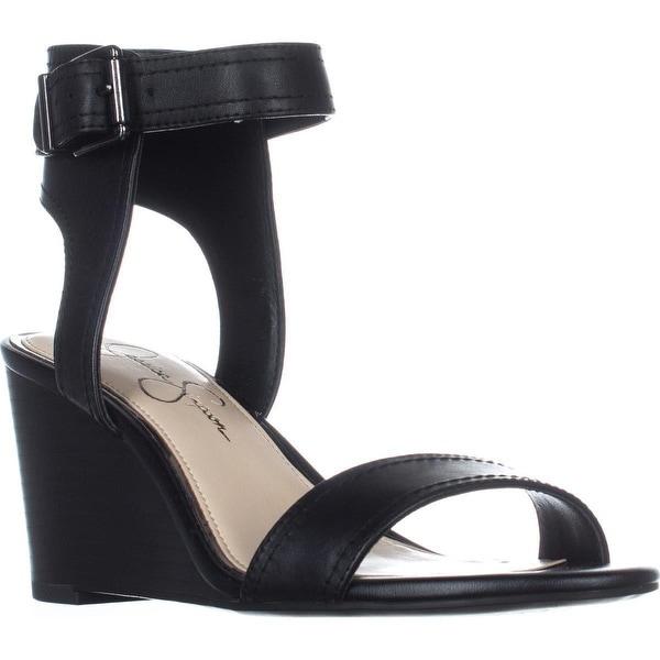 Jessica Simpson Cristabel Ankle Strap Wedge Sandals, Black