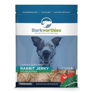 Barkworthies Dog Jerky Rabbit Apple 3oz.