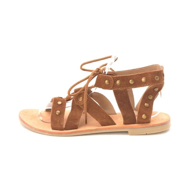 Diba True Womens Train Stop Leather Open Toe Casual Gladiator Sandals - 6