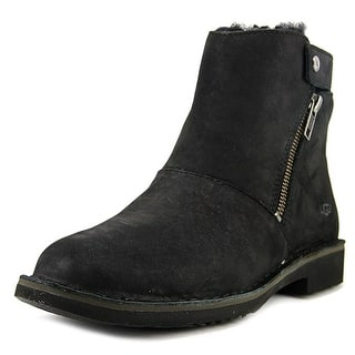 Ugg Australia Kayel Women Round Toe Leather Black Bootie|https://ak1.ostkcdn.com/images/products/is/images/direct/5955acd07881308b0085b9bee48883f8ceac7992/Ugg-Australia-Kayel-Women-Round-Toe-Leather-Bootie.jpg?impolicy=medium